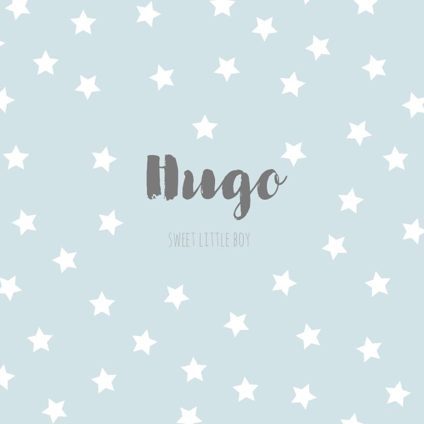 Geboortekaart sterren blauw - BC 1
