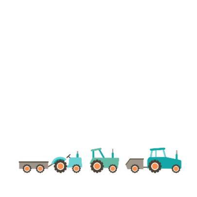 Geboortekaart tractor 2