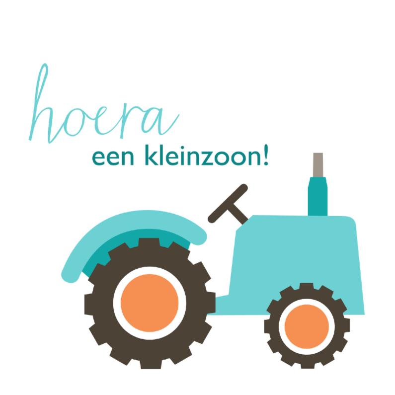 Geboortekaart tractor 1