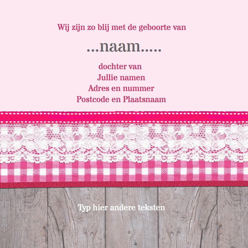 Geboortekaart wintermeisje roze 3