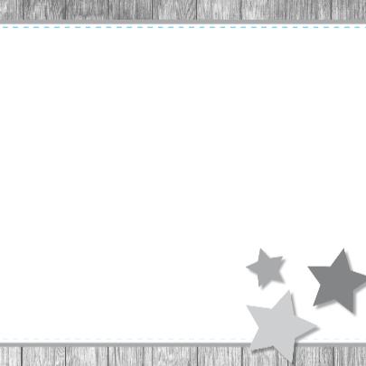 Geboortekaartje 63 ruitje hout ster 3