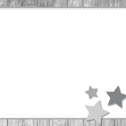 Geboortekaartje 64 ruitje hout ster 3