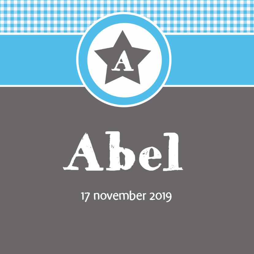 Geboortekaartje Abel LW 1