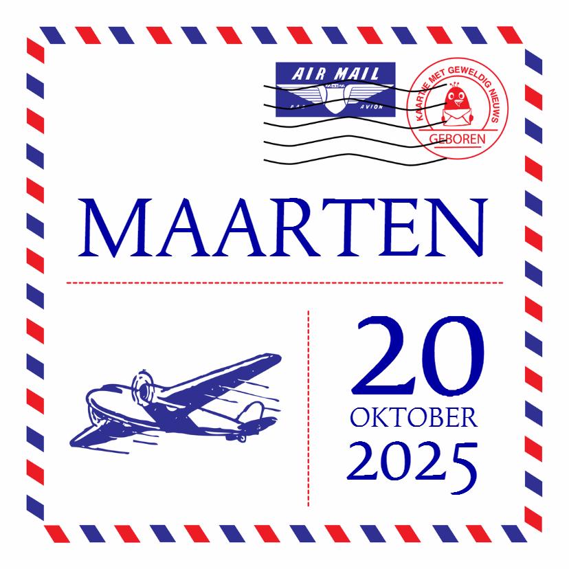 Geboortekaartje Airmail 1