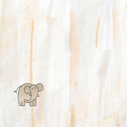 Geboortekaartje baby-olifant 2