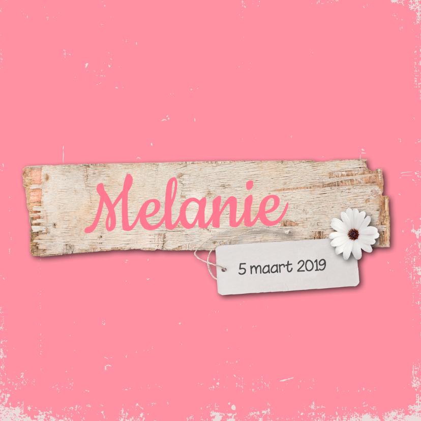 Geboortekaartje-bloem-Melanie 1