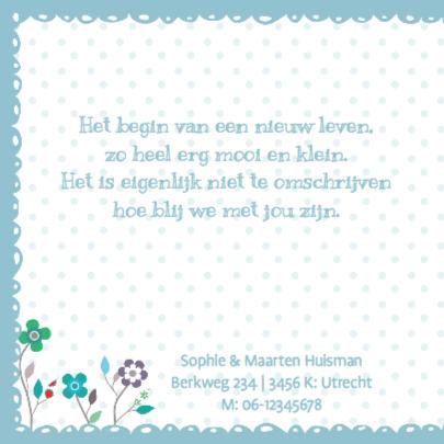 Geboortekaartje BloemenBoom Uil  2