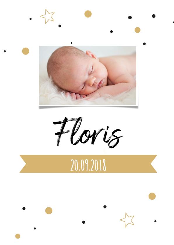 Geboortekaartje confetti FLoris 1
