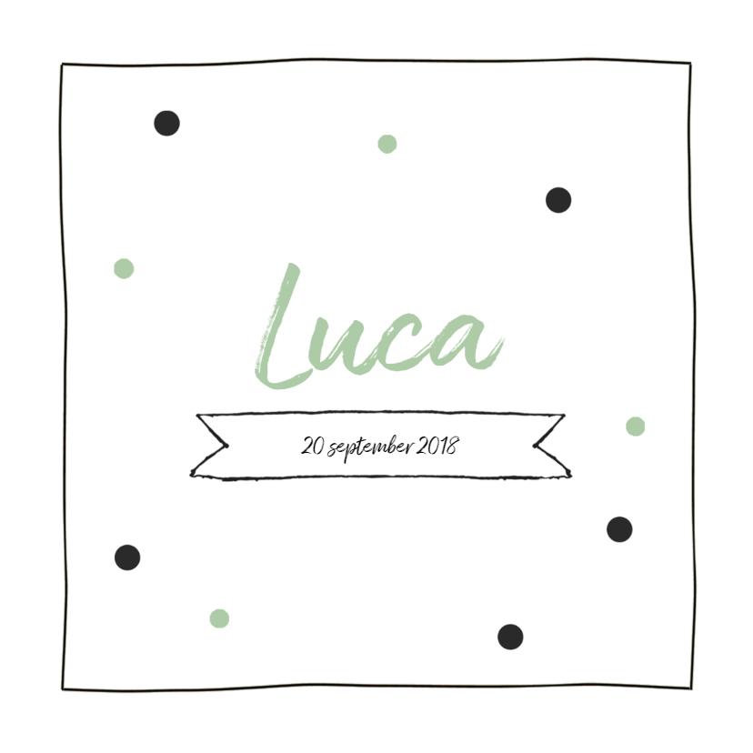 Geboortekaartje confetti Luca 1