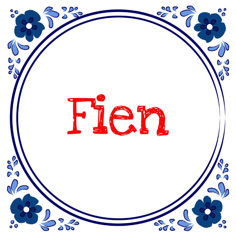 Geboortekaartje Delftsblauwe tegel bloem 1