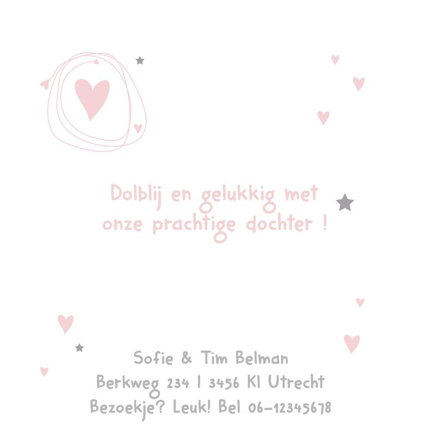 Geboortekaartje eenvoudig Lisa 2