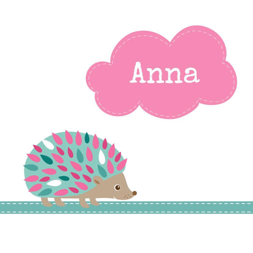 Geboortekaartje Egel Anna - HB 1