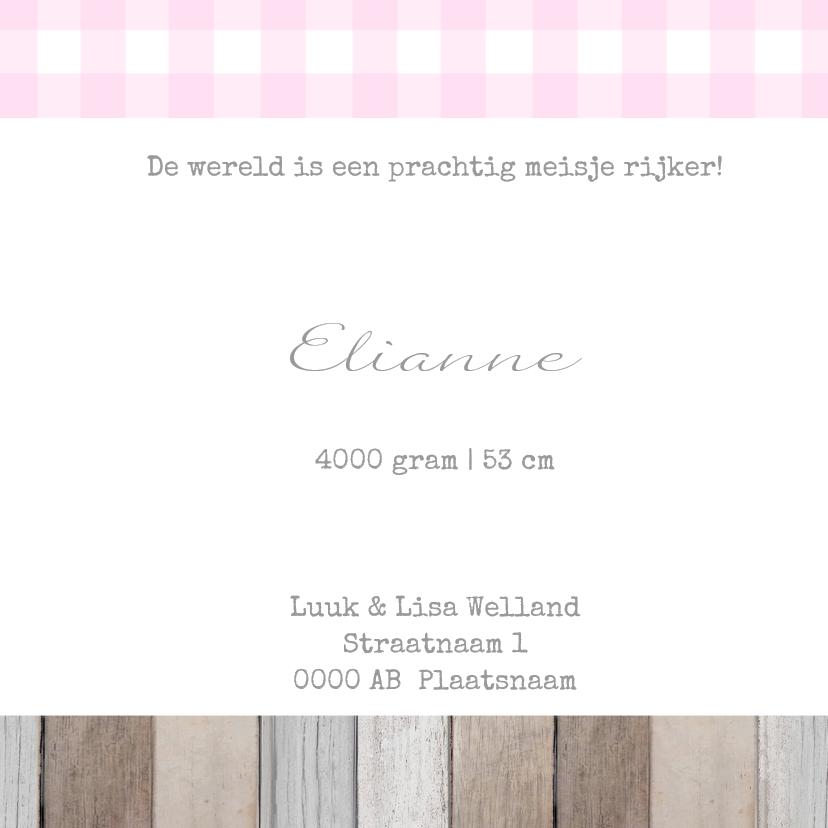 Geboortekaartje Eline label 3