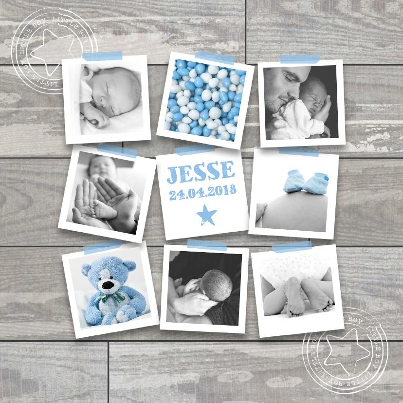Geboortekaartje foto collage boy 1