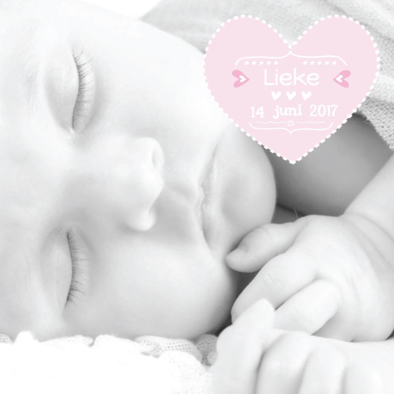 Geboortekaartje Foto Lieke 1
