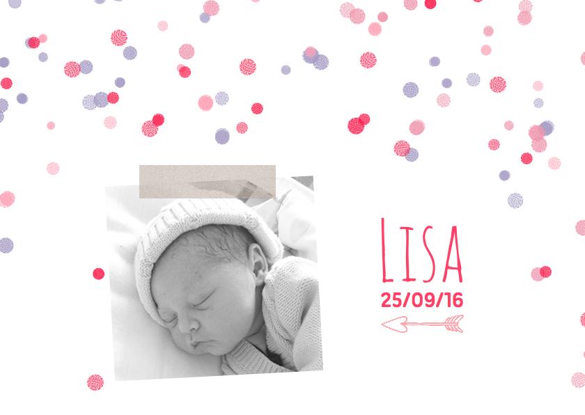 Geboortekaartje foto stip meisje 1