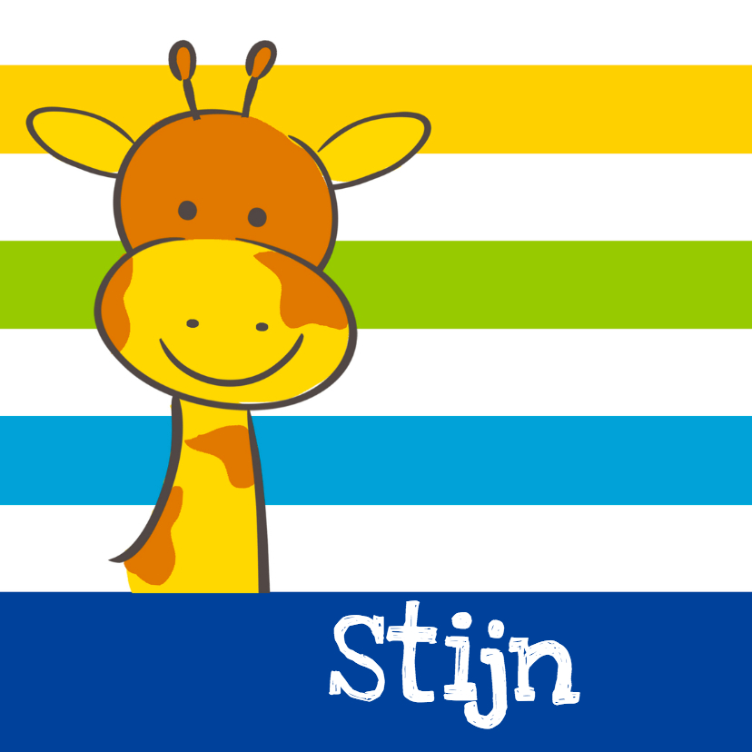Geboortekaartje giraf jongen 1