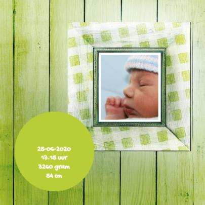 Geboortekaartje groen scrapbook 2