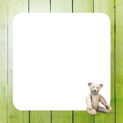 Geboortekaartje groen scrapbook 3