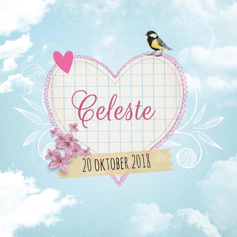 Geboortekaartje Hart Celeste 1
