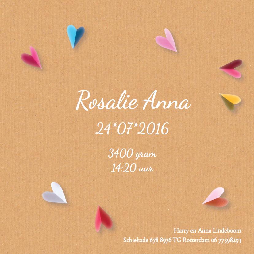 geboortekaartje hart Rosalie 3