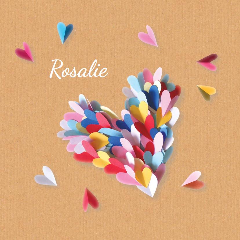 geboortekaartje hart Rosalie 1