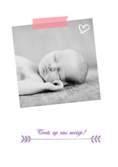 Geboortekaartje hip Amber 2