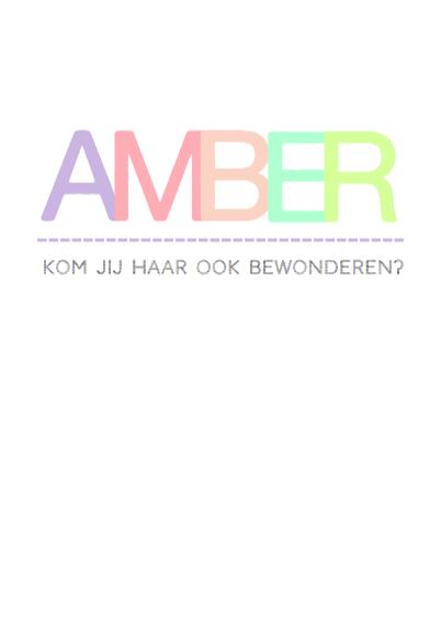 Geboortekaartje hip Amber 3