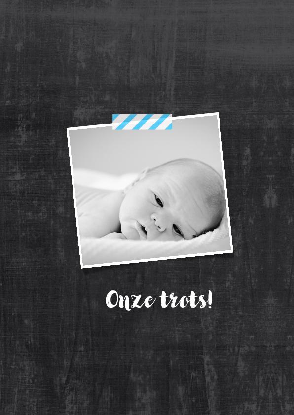 Geboortekaartje hip chalkboard  2