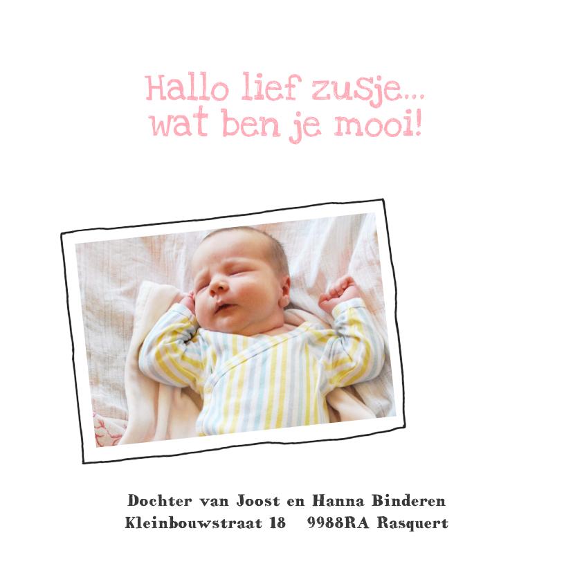 Geboortekaartje hip foto collage 2