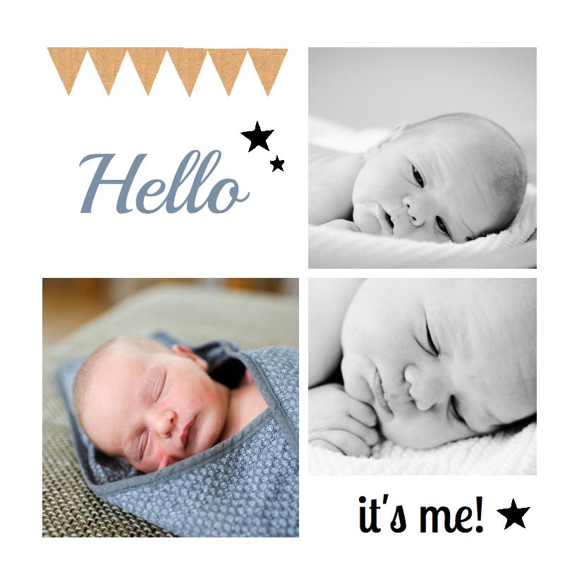 Geboortekaartje hip foto hello 1