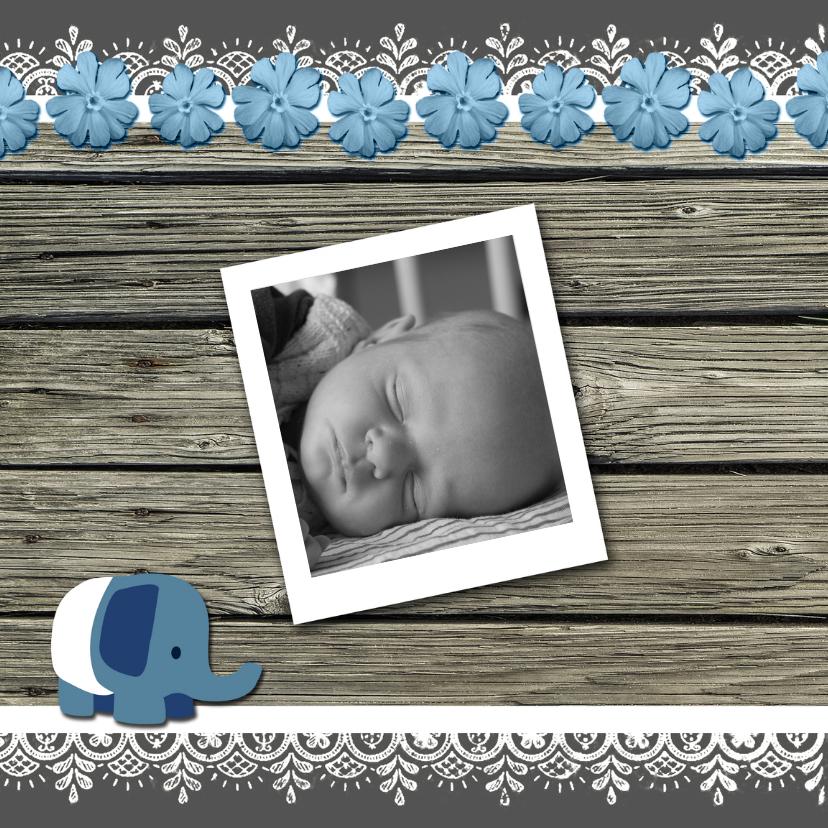 Geboortekaartje hout jongen-HR 2