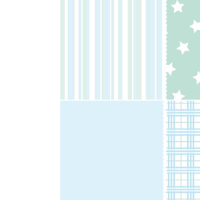 Geboortekaartje Houten ster blauw 3