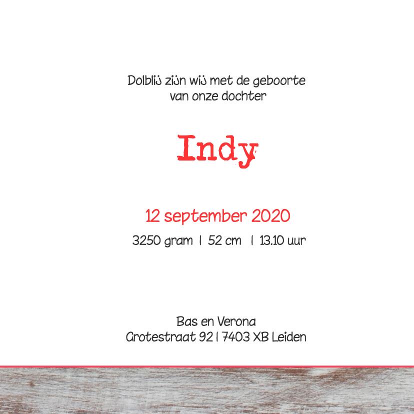 Geboortekaartje Indy 3