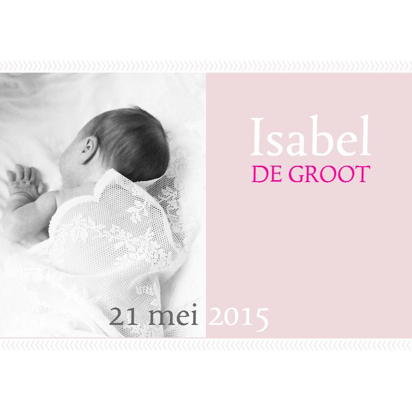 Geboortekaartje Isabel 1