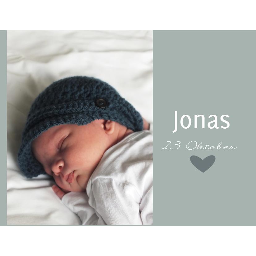 Geboortekaartje Jonas 1