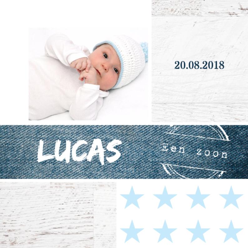 Geboortekaartje jongen Lucas 1