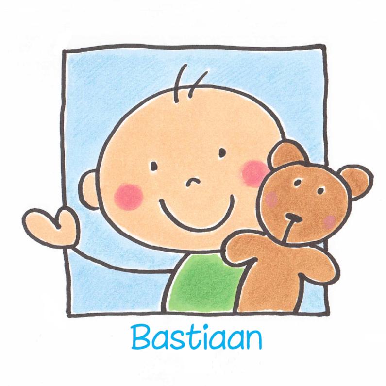 Geboortekaartje jongen met beer 1