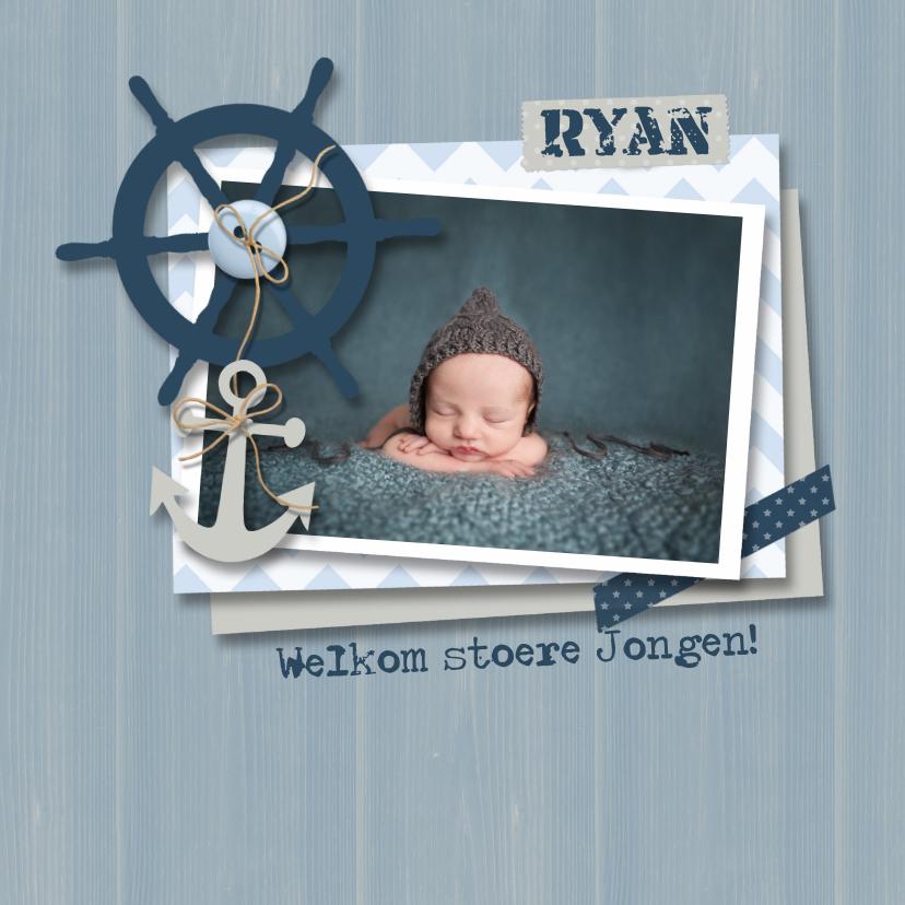 Geboortekaartje jongen nautical  1