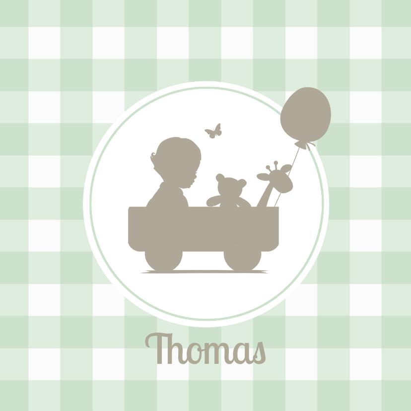 Geboortekaartje jongen silhouet 1