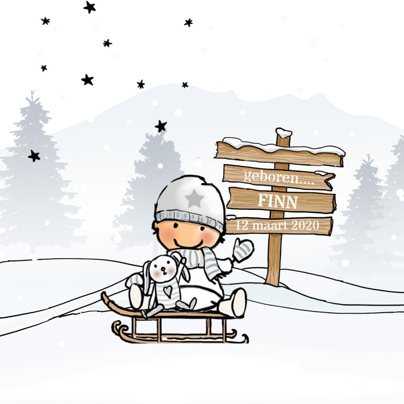 Geboortekaartje jongen winter av 1