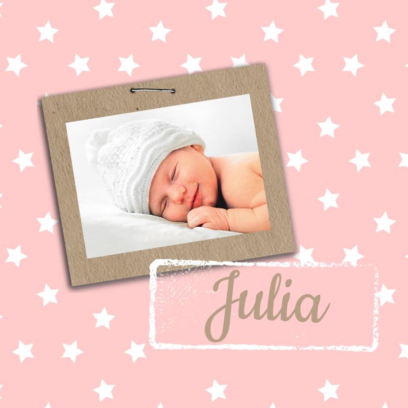 Geboortekaartje Julia sterren 1