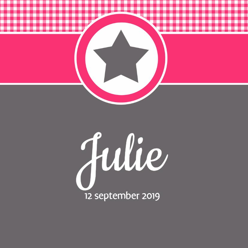Geboortekaartje Julie LW 1