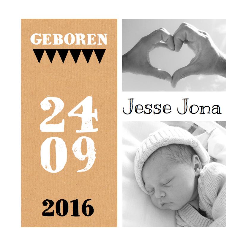 Geboortekaartje karton foto's 1
