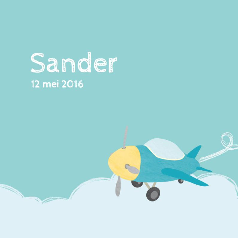 Geboortekaartje klein vliegtuig 1