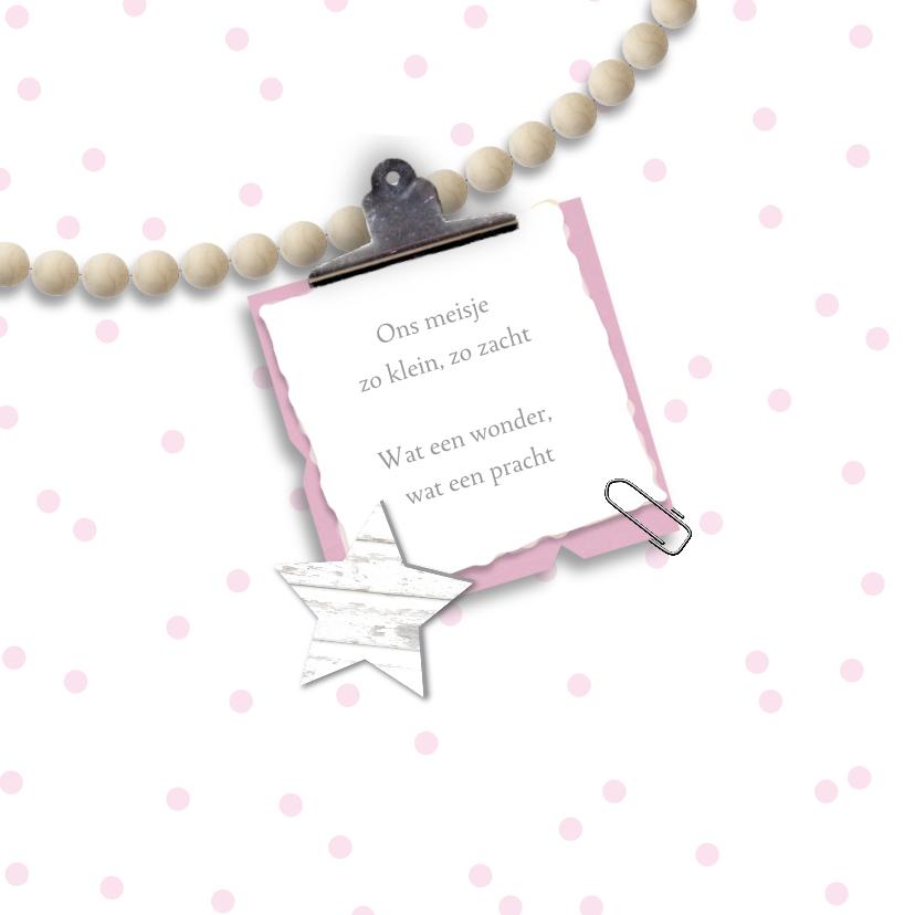 Geboortekaartje kralen meisje 2