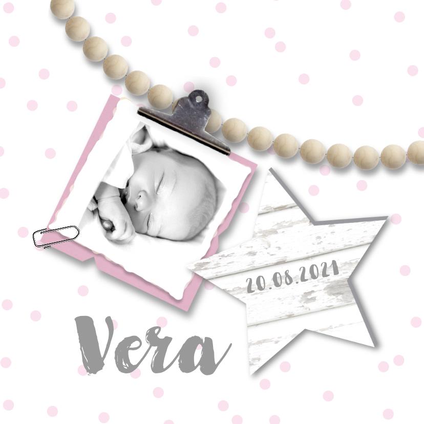 Geboortekaartje kralen meisje 1