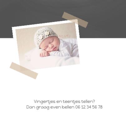 Geboortekaartje krijt sterre 2
