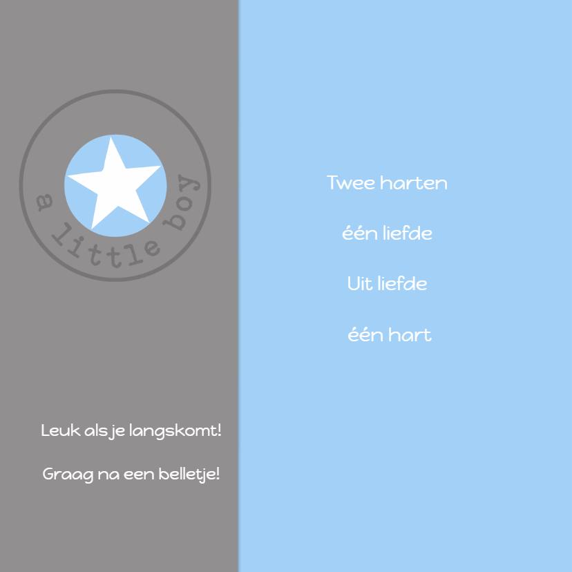Geboortekaartje Lars ster 2