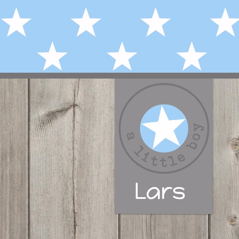 Geboortekaartje Lars ster 1